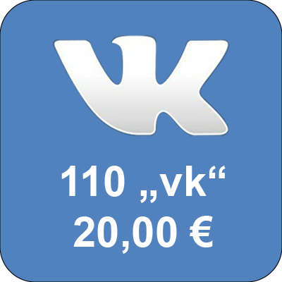 "Top up accounts in social network Vkontakte.ru with 110 ""Golos"""