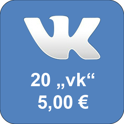 "Top up accounts in social network Vkontakte.ru with 20 ""Golos"""