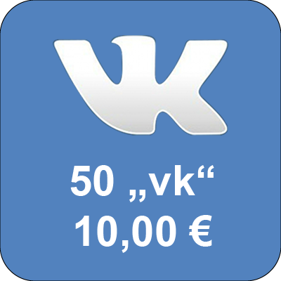 "Top up accounts in social network Vkontakte.ru with 50 ""Golos"""