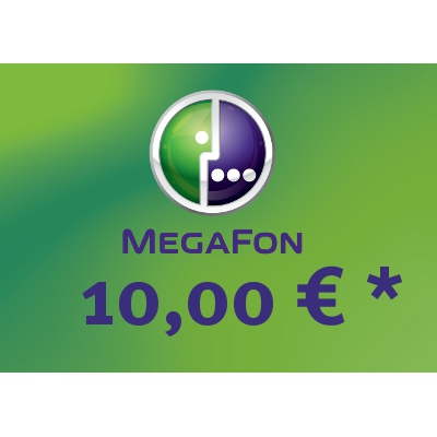Top up balance of MegaFon - Russia SIM - Card with 10,00 EUR