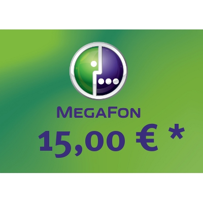 Top up balance of MegaFon - Russia SIM - Card with 15,00 EUR