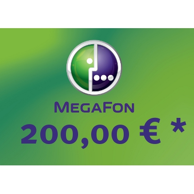 Recharge balance of MegaFon - Russia SIM - Card with 200,00 EUR