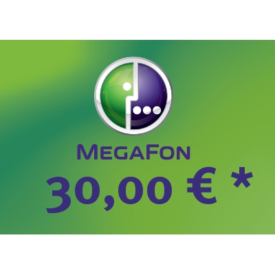 Top up balance of MegaFon - Russia SIM - Card with 30,00 EUR
