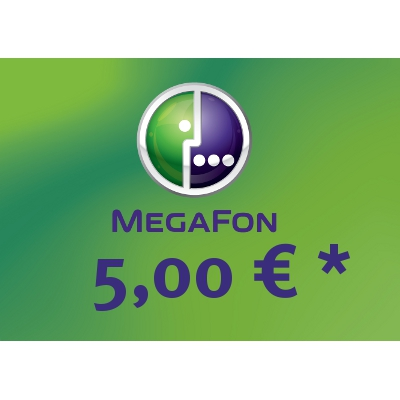Top up balance of MegaFon - Russia SIM - Card with 5,00 EUR