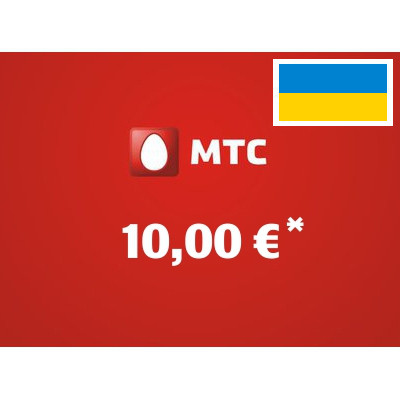 Recharge balance of MTS - Ukraine SIM - Card with 10,00 EUR