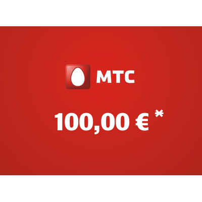 Recharge balance of MTS - Russia SIM - Card with 100,00 EUR