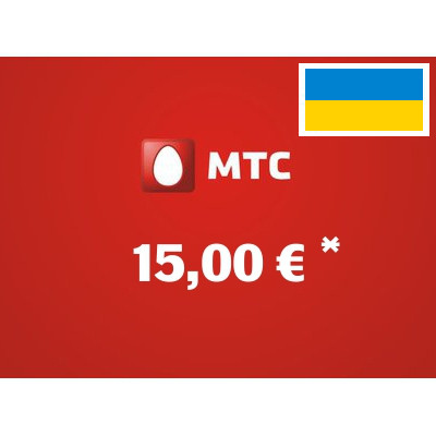 Recharge balance of MTS - Ukraine SIM - Card with 15,00 EUR