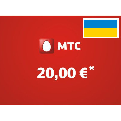 Recharge balance of MTS - Ukraine SIM - Card with 20,00 EUR