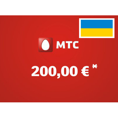 Recharge balance of MTS - Ukraine SIM - Card with 200,00 EUR