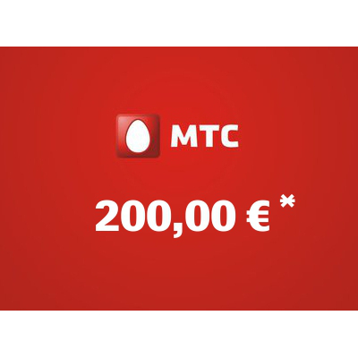 Recharge balance of MTS - Russia SIM - Card with 200,00 EUR