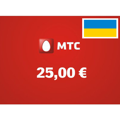 Recharge balance of MTS - Ukraine SIM - Card with 25,00 EUR