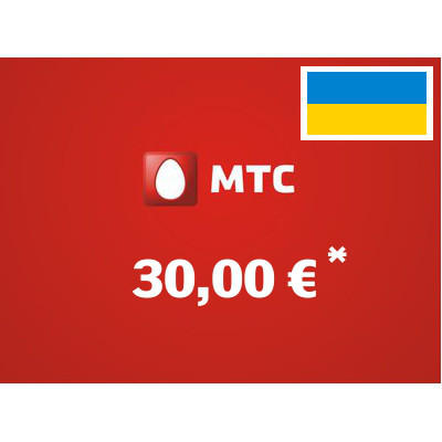 Recharge balance of MTS - Ukraine SIM - Card with 30,00 EUR