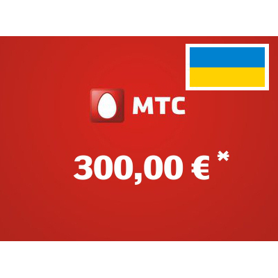 Recharge balance of MTS - Ukraine SIM - Card with 300,00 EUR