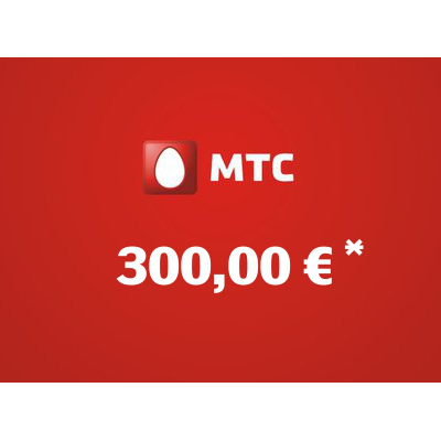 Recharge balance of MTS - Russia SIM - Card with 300,00 EUR