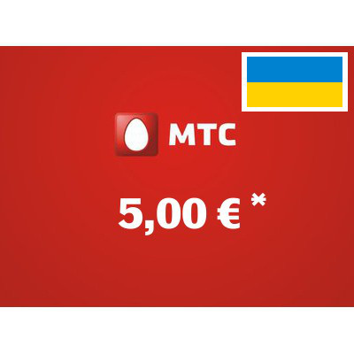 Recharge balance of MTS - Ukraine SIM - Card with 5,00 EUR