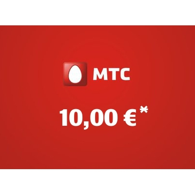 Recharge balance of MTS - Russia SIM - Card with 10,00 EUR