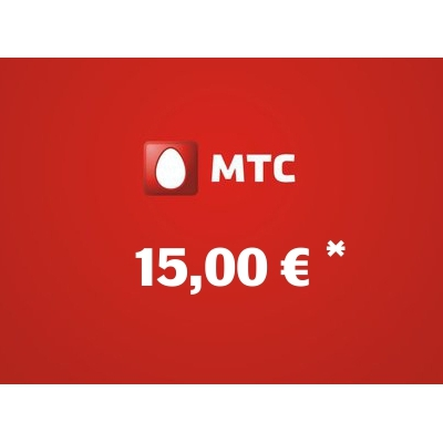 Recharge balance of MTS - Russia SIM - Card with 15,00 EUR