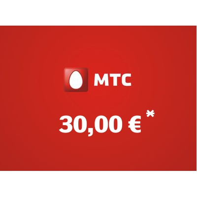 Top up balance of MTS - Russia SIM - Card with 30,00 EUR