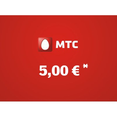 Recharge balance of MTS - Russia SIM - Card with 5,00 EUR