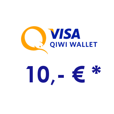 Refill electronic QIWI-WALLET with 10,- € in RUS Rubles