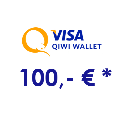 Refill electronic QIWI-WALLET with 100,- € in RUS Rubles