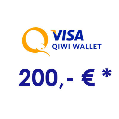 Refill electronic QIWI-WALLET with 200,- € in RUS Rubles