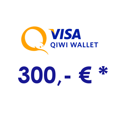 Refill electronic QIWI-WALLET with 300,- € in RUS Rubles