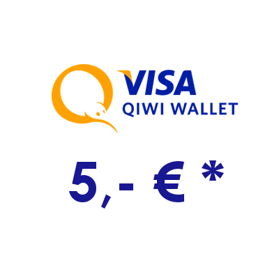 Refill electronic QIWI-WALLET with 5,- € in RUS Rubles