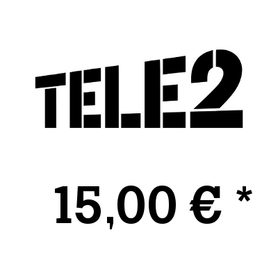 Top up balance of TELE2 - Russia SIM - Card with 15,00 EUR