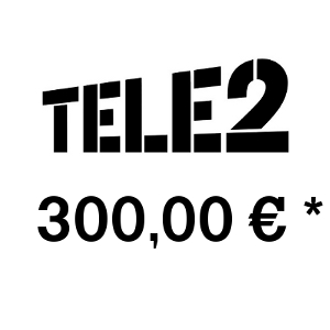 Recharge balance of TELE2 - Russia SIM - Card with 300,00 EUR
