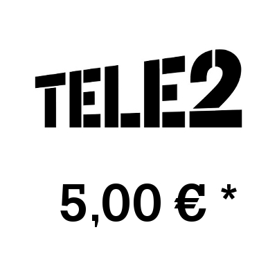 Top up balance of TELE2 - Russia SIM - Card with 5,00 EUR