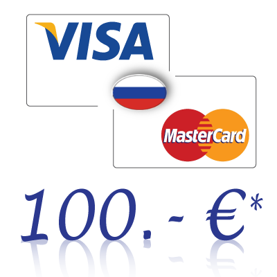 Send 100, - EUR in rubles on a bank card in Russia