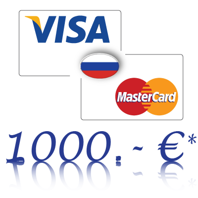 Send 1000, - EUR in rubles on a bank card in Russia