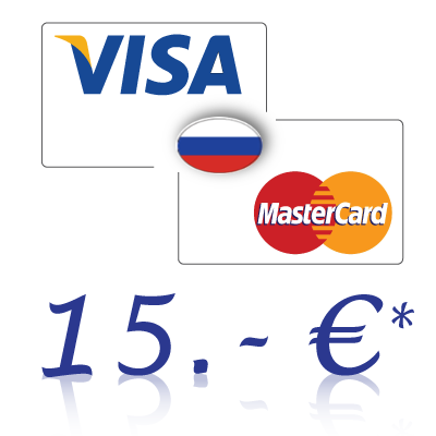 Send 15, - EUR in rubles on a bank card in Russia