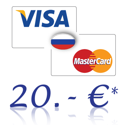 Send 20, - EUR in rubles on a bank card in Russia