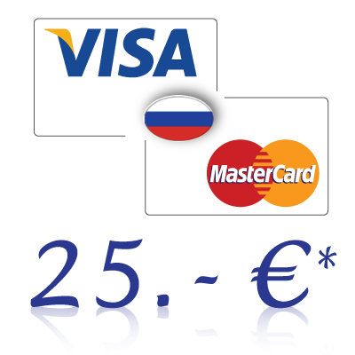 Send 25, - EUR in rubles on a bank card in Russia