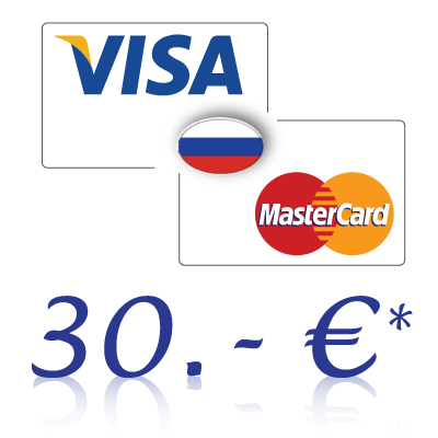 Send 30, - EUR in rubles on a bank card in Russia