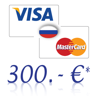 Send 300, - EUR in rubles on a bank card in Russia