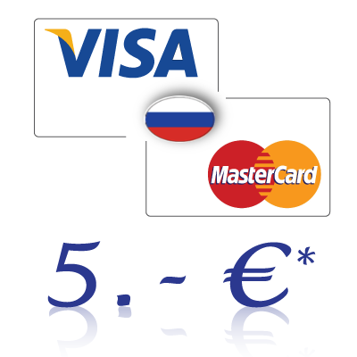 Send 5, - EUR in rubles on a bank card in Russia