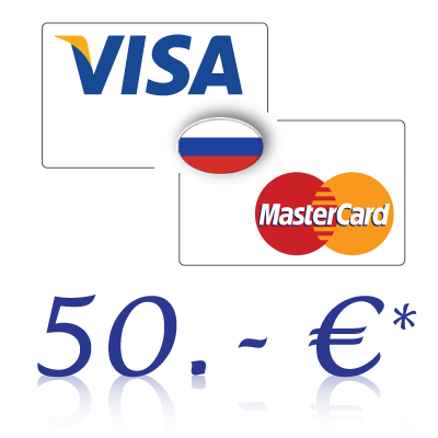 Send 50, - EUR in rubles on a bank card in Russia