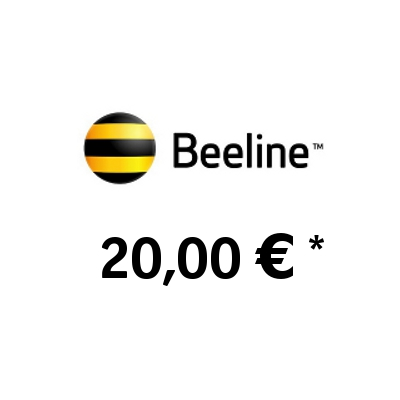 Recharge balance of Beeline (KaR-Tel) - Kazakhstan SIM - Card with 20,00 EUR