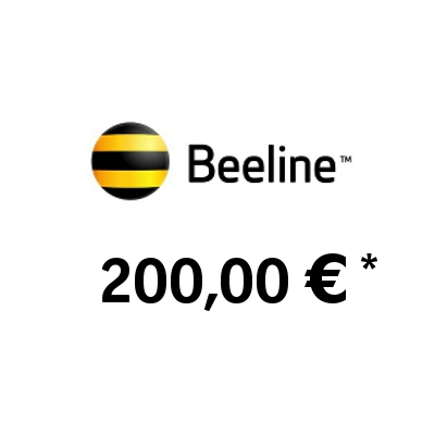 Recharge balance of BeeLine - Russia SIM - Card with 200,00 EUR