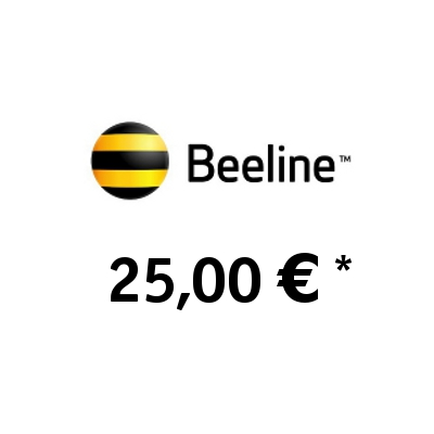 Recharge balance of Beeline (KaR-Tel) - Kazakhstan SIM - Card with 25,00 EUR
