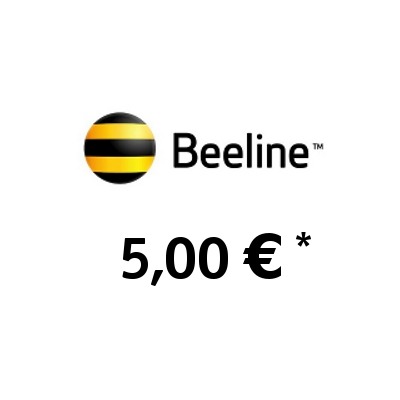 Recharge balance of Beeline (KaR-Tel) - Kazakhstan SIM - Card with 5,00 EUR