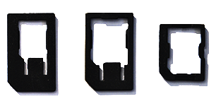 Adapter standard size for SIM cards in nano size