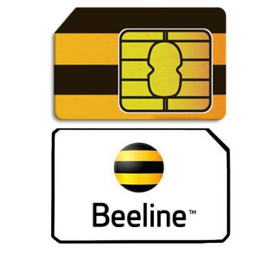 Sim card mobile operator «Beeline» Russia with 50 RUB balance