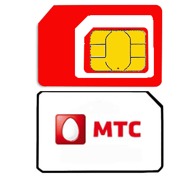 Sim card mobile operator «MTS» Russia and 30 RUB Top Up for all Russian