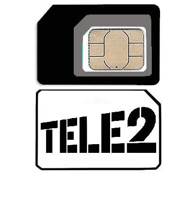 Sim card mobile phone provider «TELE2» Russia with tariff «Classic»