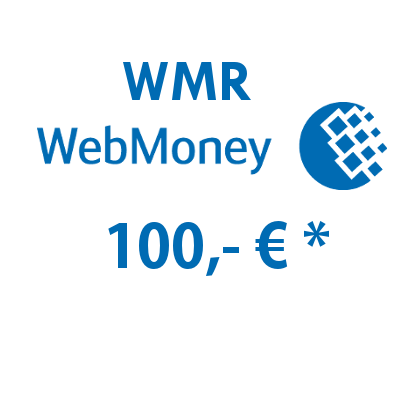 Refill electronic wallet (WMR) WebMoney with 100,- € in Rubles