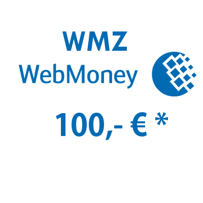 Refill electronic wallet (WMZ) WebMoney with 100,- € in USD